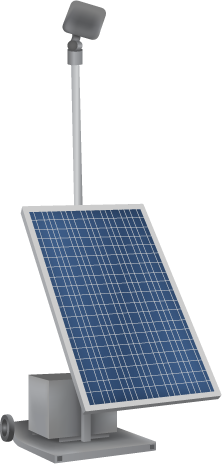 portable solar floodlight